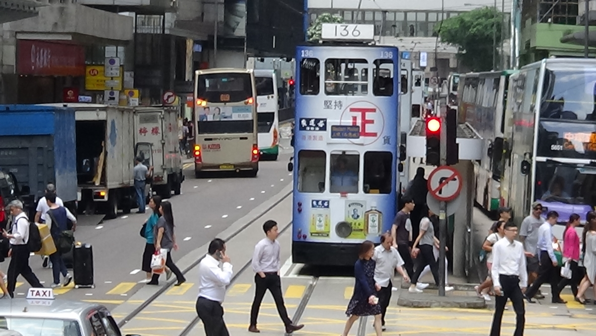 Optimized-HK's historic tram and functioning for over a century